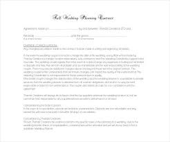 wedding planner contracts 13 wedding contract templates free pdf doc format