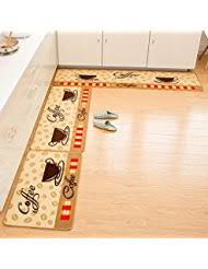 Yellow Kitchen Rug Set Amazon Com Yellow Kitchen Rugs Kitchen U0026 Table Linens Home