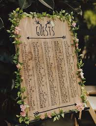 wedding reception seating chart 20 stylish seating charts to greet your reception guests mywedding