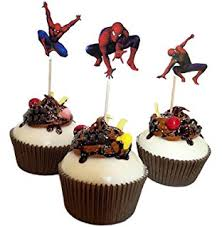 Amazon Com Spiderman Birthday Decoration Theme Cupcake Spider