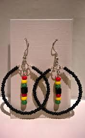 reggae earrings reggae earrings diy black yellow green my reggae