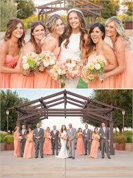 simple rustic winery wedding peach wedding and grey