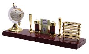 globe stand pen holder desk organizer stationery accessory office