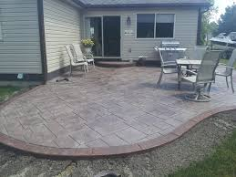 Concrete Ideas For Backyard Concrete Design Ideas For Stamped Concrete Patio Design Ideas