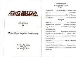 prayer breakfast program sle search church ideas