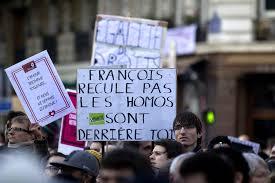 mariage pour tous tout en finesse françois ne recule pas les homos sont