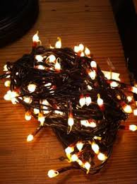 brown corded tree lights great with our german twig