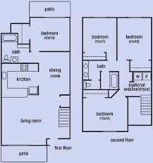 3 bedroom 2 bath floor plans sorrento apartments