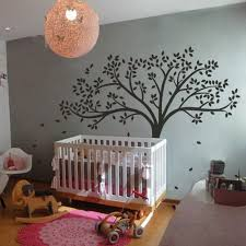 Tree Decal For Nursery Wall C053 Mairgwall Fall Tree Wall Decal Monochromatic Tree Decal Baby