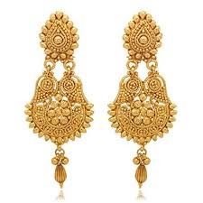 earrings gold buy donna gold color metal dangle drop earrings for women online