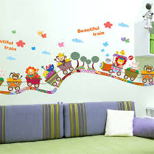 online get cheap train sticker aliexpress com alibaba group e5 2017 diy wall sticker muraux adesivo de parede children wall stickers cartoon animal train decals