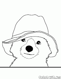 coloring page bear is hiding
