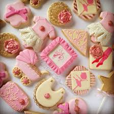 ballerina baby shower cookies mandys sweets pinterest