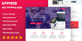 appmob mobile develop onepage html template by eventhemes