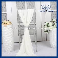 cheap sashes for chairs sh003f wholesale 2015 cheap fancy wedding ivory chiffon chair