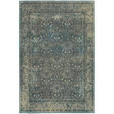 Faded Area Rug Faded Traditional Teal Blue Brown Area Rug 9 10 X 12 10 Free