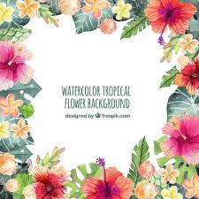 decorative flower decorative vintage flower background with watercolor vector free