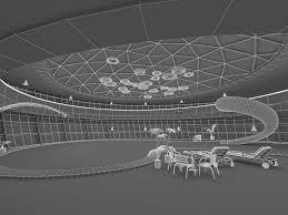 Modern Swimming Pool Interior 3d Model Cgtrader