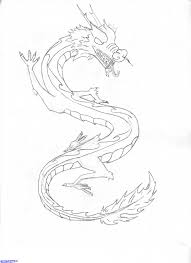 simple chinese dragon drawing simple chinese dragon drawing pencil