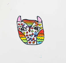 rainbow owls drawing and painting lesson with kwik stix kinderart com