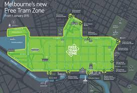 melbourne tram map melbourne free tram zone map