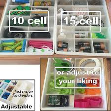 Kitchen Cabinet Divider Organizer Amazon Com Adjustable Drawer Dividers For Utility Drawer Kitchen