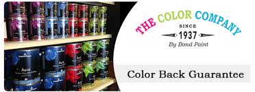 color back guarantee the color company by bond paintthe color