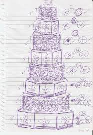 emily bakes cakes wedding cake sketch