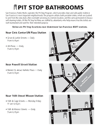 San Francisco Street Cleaning Map by Pit Stop Bathrooms Near Downtown Sf Bart Stations Bart Gov