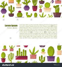 vector illustration cartoon cactus background vector stock vector
