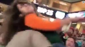 miami fan slaps officer video appears to show cop punching woman after she tried to hit him