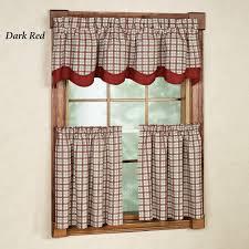 Bristol Curtains Bristol Plaid Tailored Tier Window Treament P031 001 2 Curtain