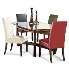 kitchen table glass top dining table set 4 chairs rectangular