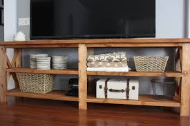 ana white rustic x console table diy projects