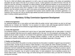 17 commission based employment contract template commission