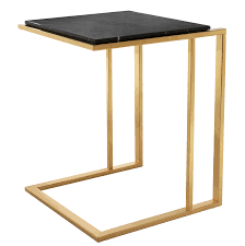 black and gold side table cocktail side table shop now