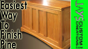 Nice Pine Vanities The Best And Easiest Way To Finish Pine 036 Youtube