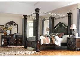 Poster Bed Canopy Laddenfield California King Poster Bed Dresser U0026 Mirror U2013 United
