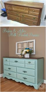 best 25 milk paint furniture ideas on pinterest milk paint how before and after dresser okay not the before lol beautiful milk paint color with java stained top a great diy way to improve outdated furniture