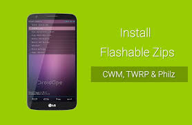 custom recovery android to install flashable zips on android using custom recovery