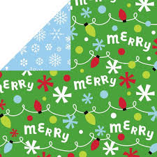 reversible christmas wrapping paper hallmark kids foil bright s reversible christmas wrapping paper