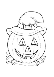 easy halloween coloring pages kids hallowen coloring pages