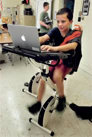 Desk Bike Pedals China Middle Students Pedal Ahead In Class Centralmaine Com