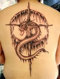 tattoo cross dragon 40 cross tattoos designs phenomenal tattoos