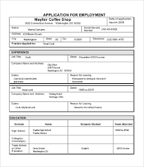 Job Application Resume by Sample Job Application 7 Free Word Pdf Documents Download