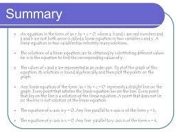 29 summary an equation