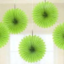 tissue paper decorations 5 lime green tissue paper fan decorations pipii