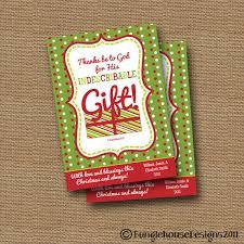 diy printable christmas card indescribable gift