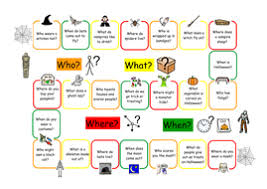 wh question game halloween by zvlovegrove teaching resources tes