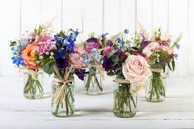 jar flowers jam jar table centres oxford florist fabulous flowers